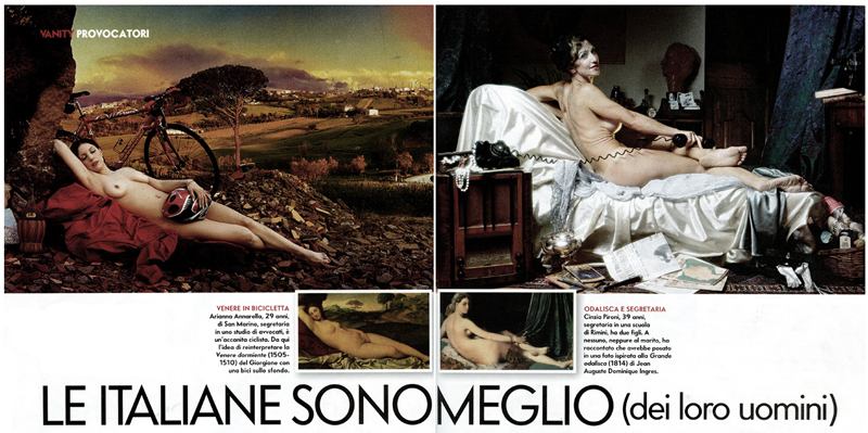 Vanity Fair double page spread