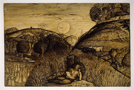 Samuel Palmer.The Valley Thick with Corn