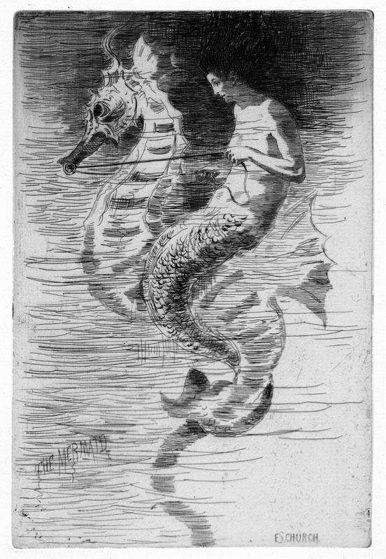 seahorse and mermaid