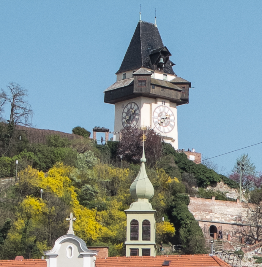 Clock Tower on Castle Hill,Graz